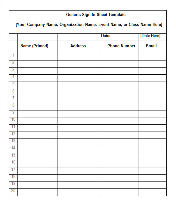 Sign sheet template charlotte clergy coalition printable sign in sheet visitor class and meeting sign in sheets maxwellsz