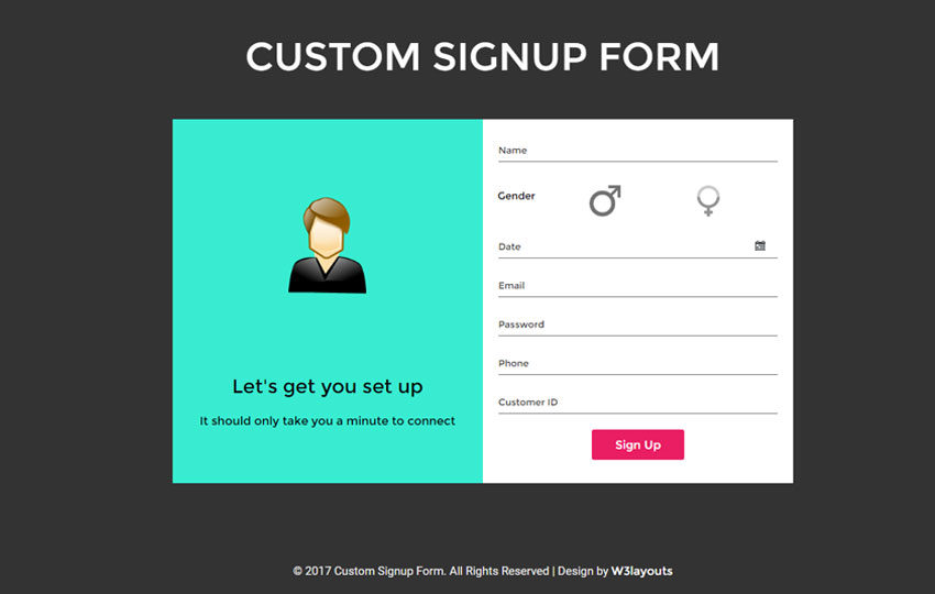 Sign Up Form Template