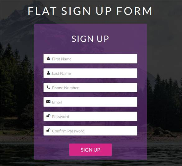 Template Sign Up Form   Evpatoria.info