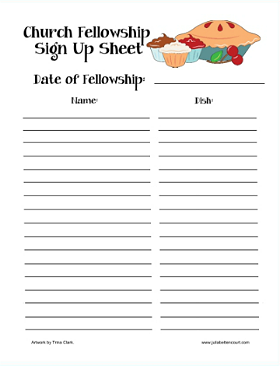 Halloween Potluck Sign Up Sheet Template Fresh Food Sign Up Sheet