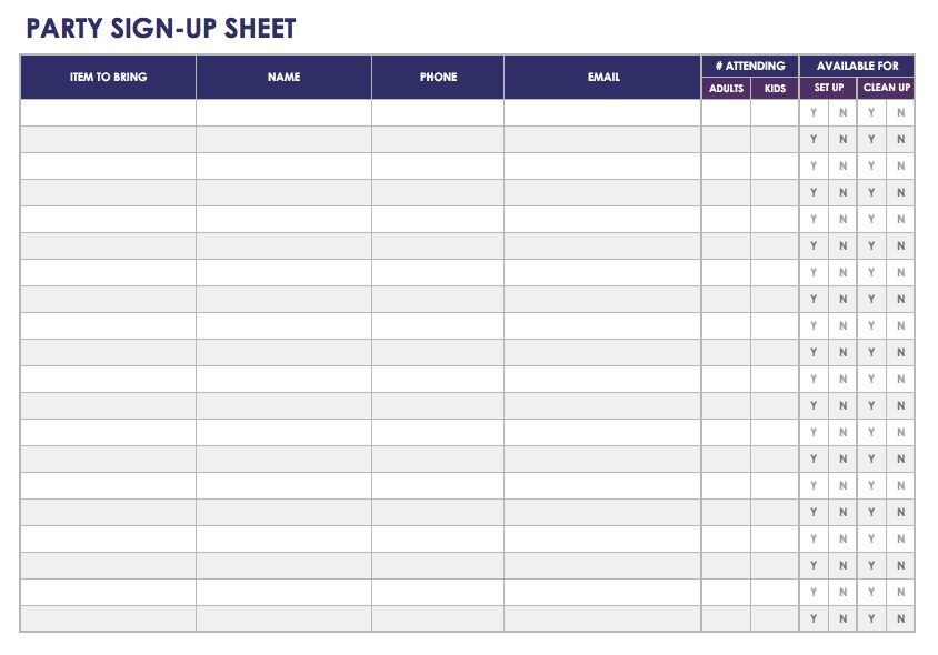 how to create a signup sheet   April.onthemarch.co