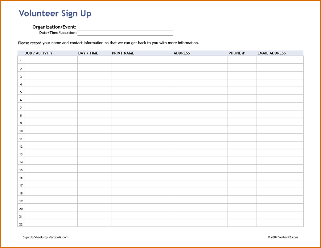 signup sheet pdf   April.onthemarch.co