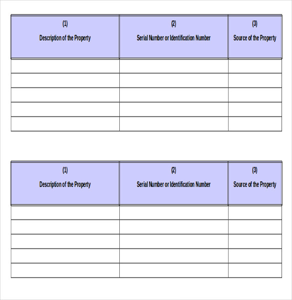 Simple Inventory Template – 16+ Free Word, Excel, PDF Documents