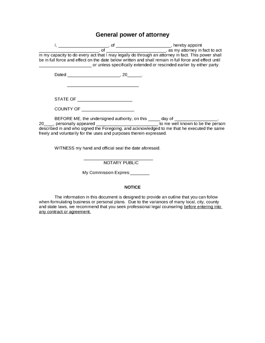 Simple Power Of Attorney Template Charlotte Clergy Coalition - Attorney templates