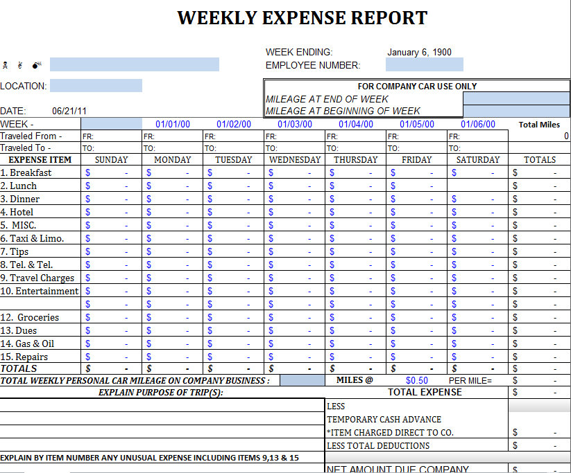 monthly expense report for small business   Kleo.beachfix.co