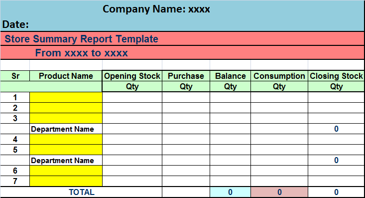 stock report template   Boat.jeremyeaton.co