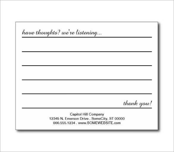 Suggestion card template charlotte clergy coalition for Word employee suggestion form template