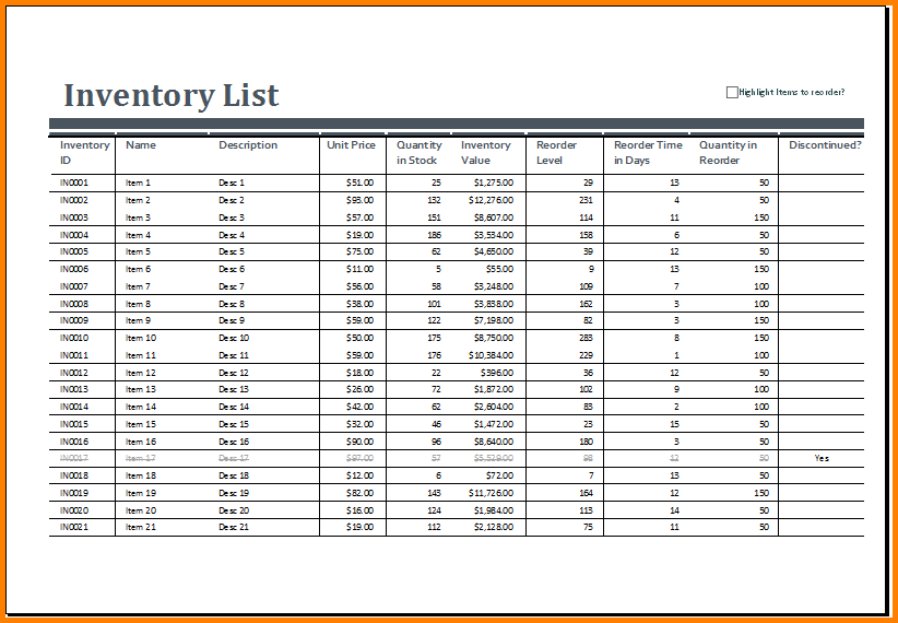 supplies inventory spreadsheet charlotte clergy coalition