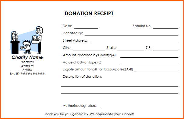 Donation Receipt Template   12 Free Samples in Word and Excel