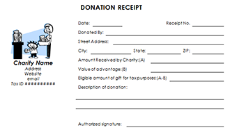 Tax Deductible Donation Receipt Template