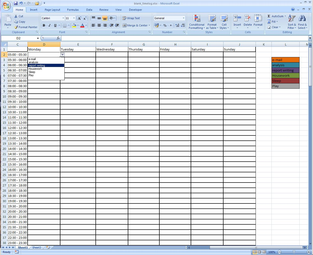 time management spreadsheet excel   April.onthemarch.co