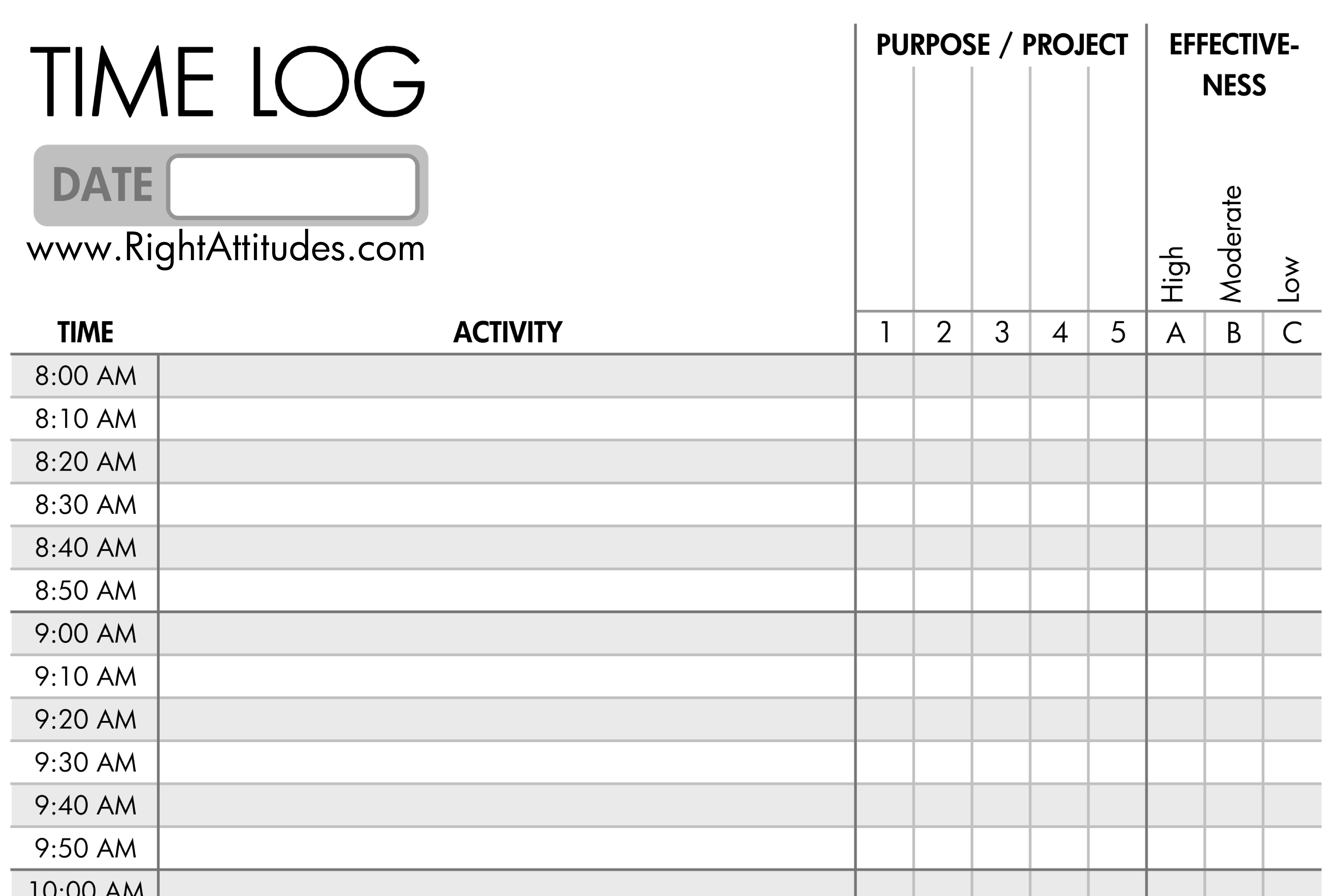 11+ Time Log Templates   PDF, Word, Excel | Free & Premium Templates