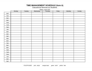 time management templates charlotte clergy coalition