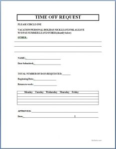 time off request form template microsoft charlotte clergy coalition