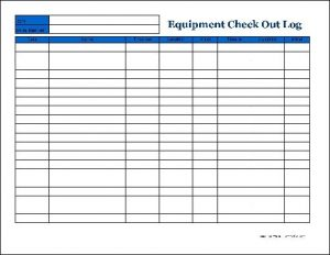 tool checkout form template
