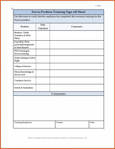 Training Sign Off Sheet Templates Charlotte Clergy Coalition