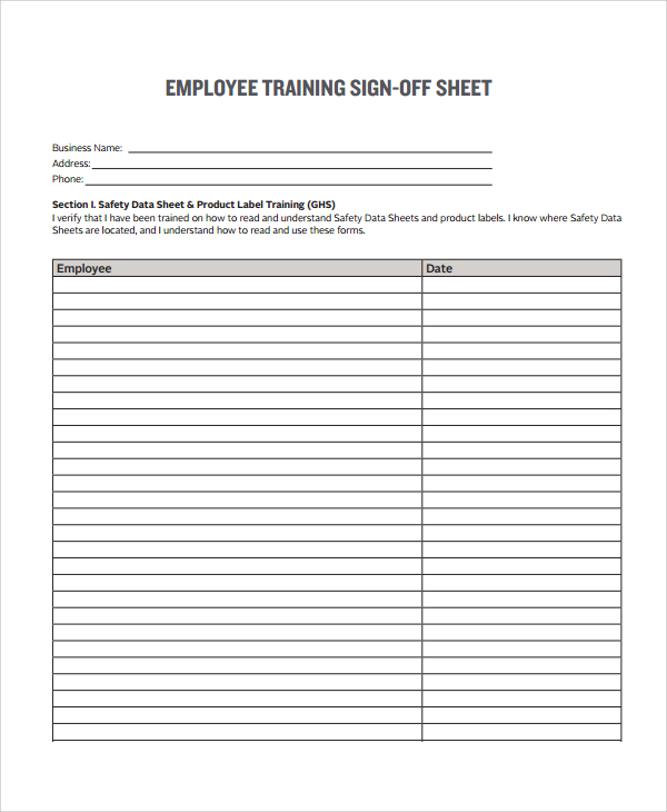 sign off template for testing - training sign off sheet templates charlotte clergy coalition