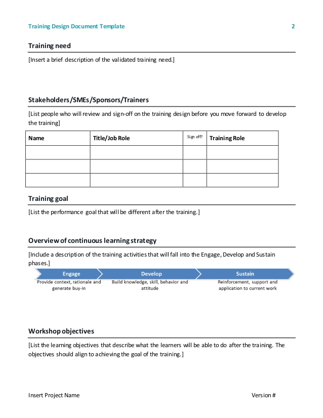 Training Sign Off Sheet Templates Charlotte Clergy Coalition - What is a design document