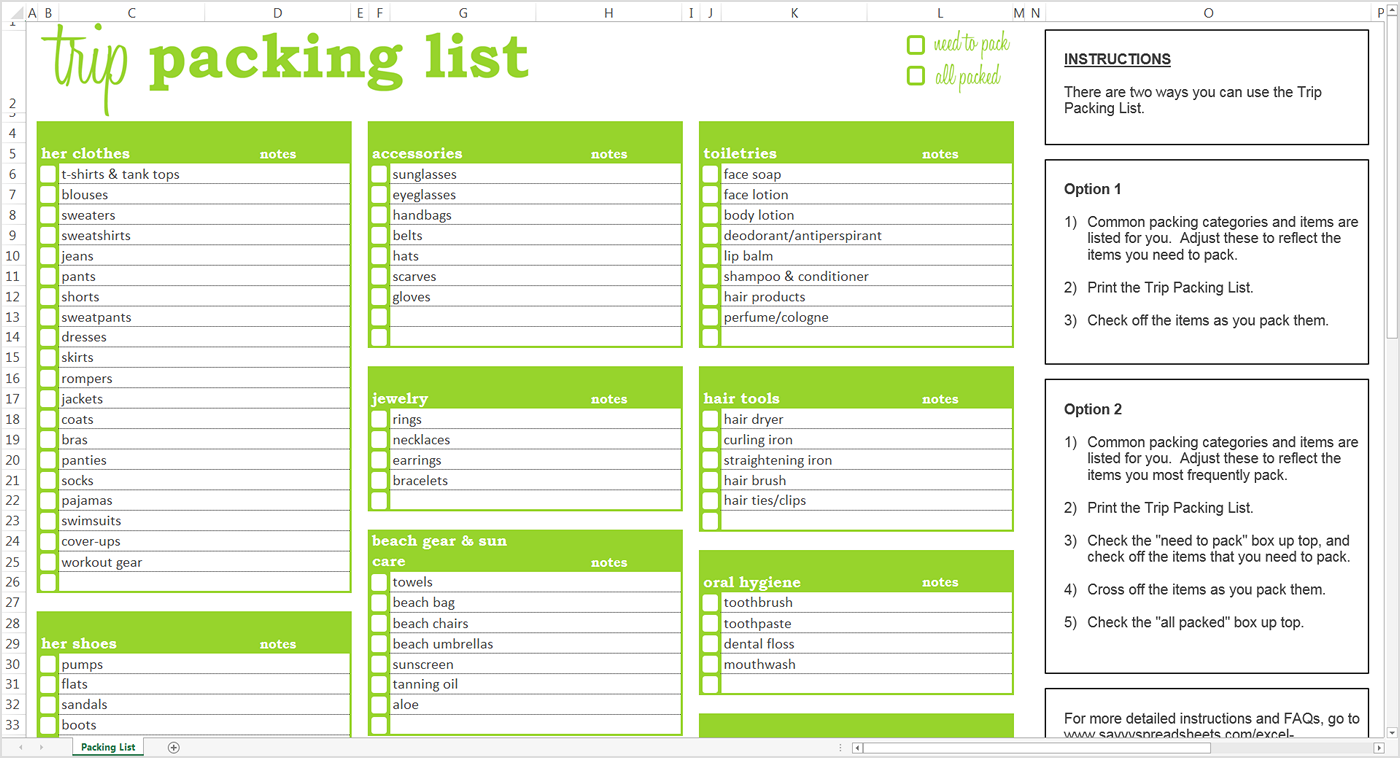 travel packing checklist template   April.onthemarch.co