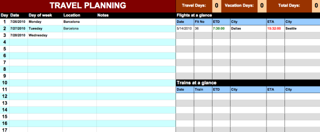 travel itinerary template google docs charlotte clergy coalition