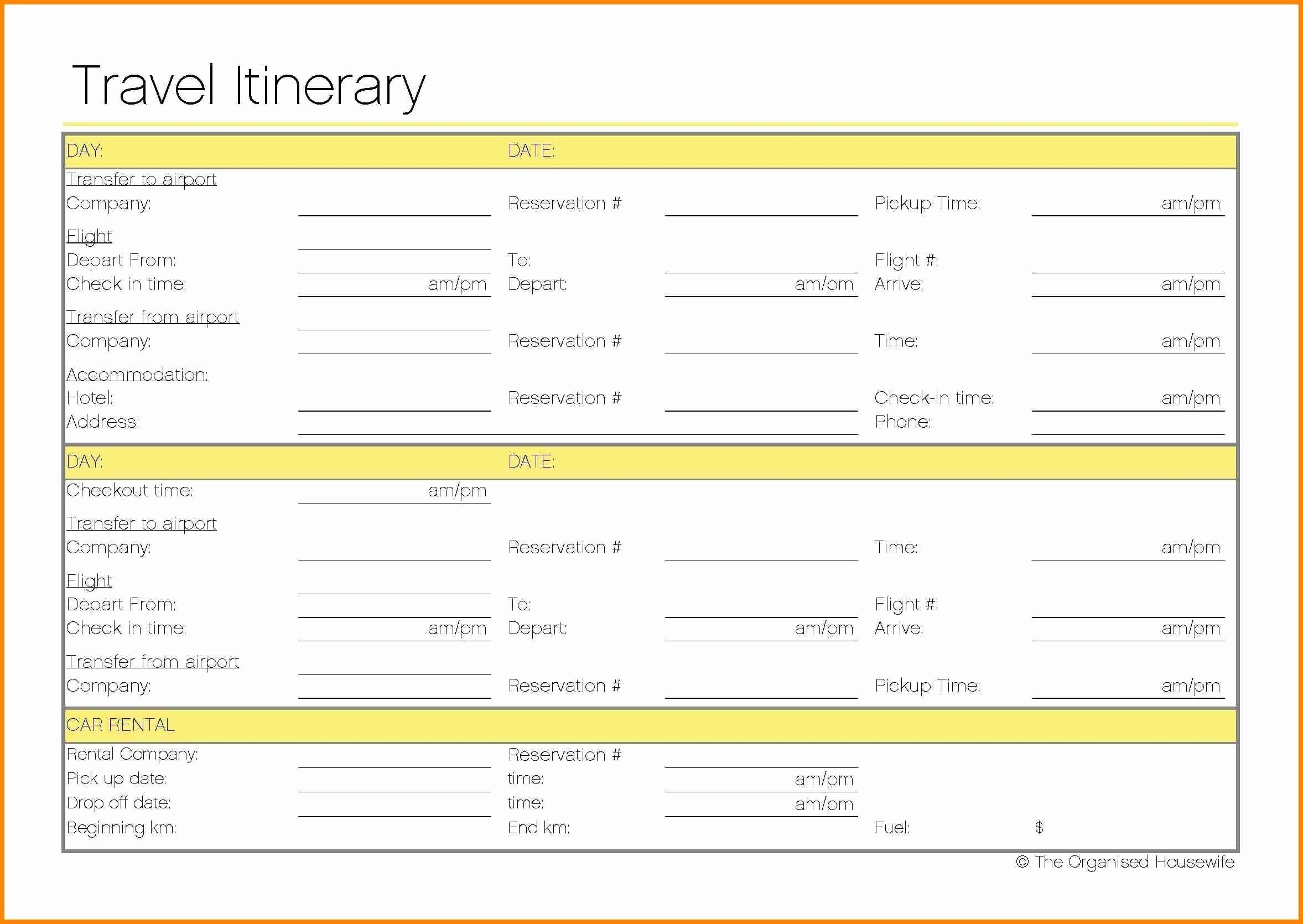 itinerary template doc   Boat.jeremyeaton.co