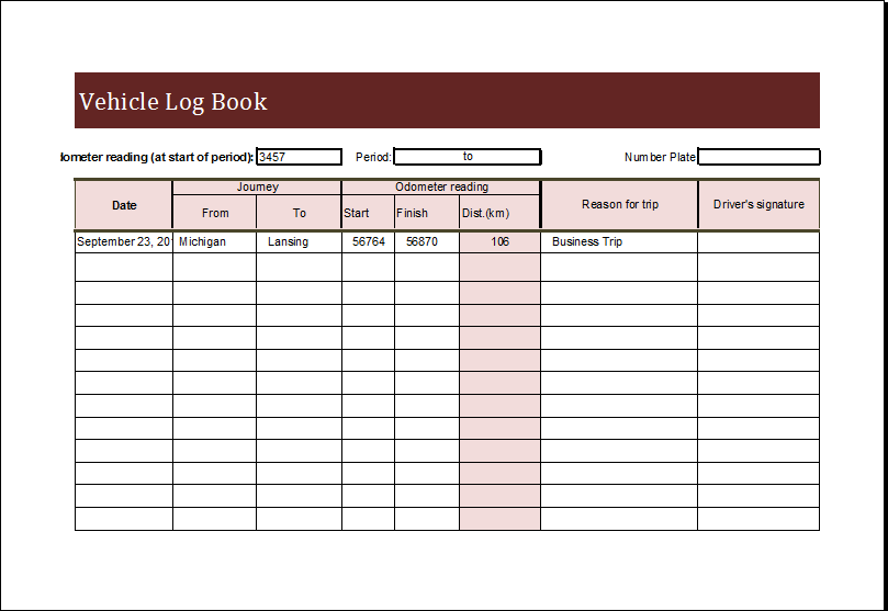 log book template free   Tier.brianhenry.co