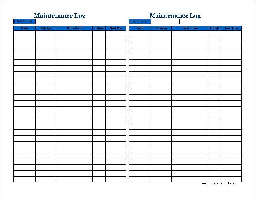 truck maintenance spreadsheet   April.onthemarch.co