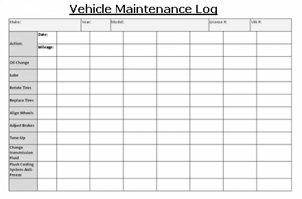 Free Vehicle Maintenance Log Template for Excel