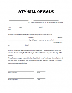 utv bill of sale charlotte clergy coalition
