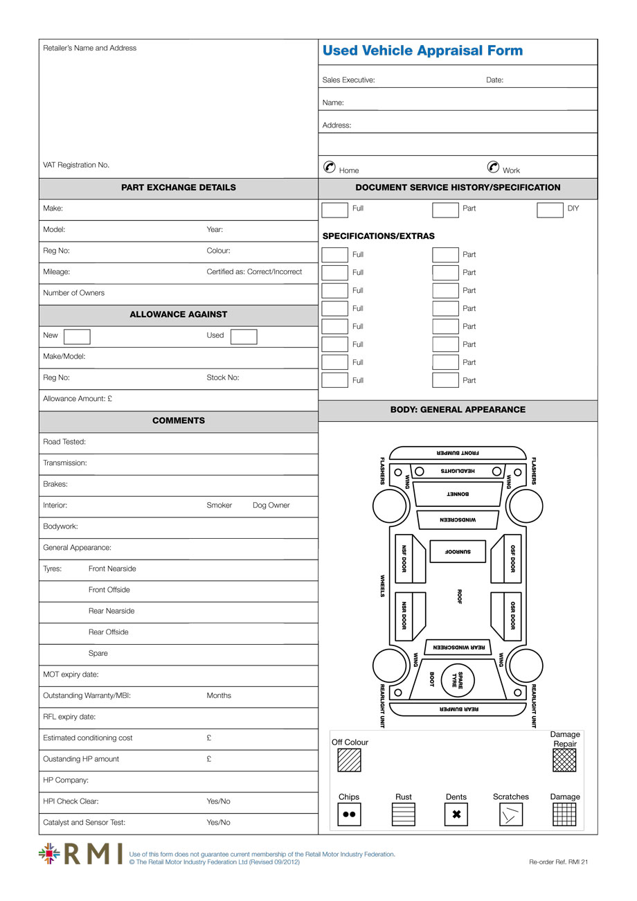 jewelry appraisal form template - vehicle appraisal form charlotte clergy coalition