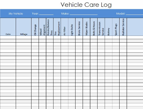 vehicle maintenance log pdf charlotte clergy coalition