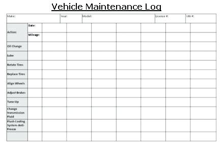 Vehicle Maintenance Log   7+ Free PDF, Excel Documents Download