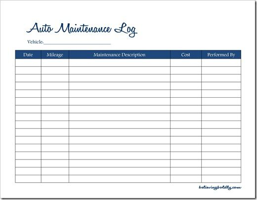 vehicle maintenance spreadsheet charlotte clergy coalition