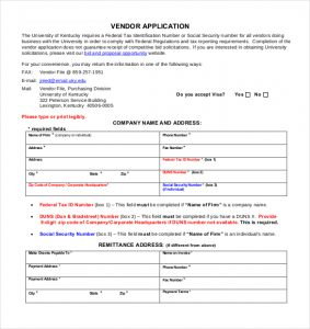 vendor application form template charlotte clergy coalition