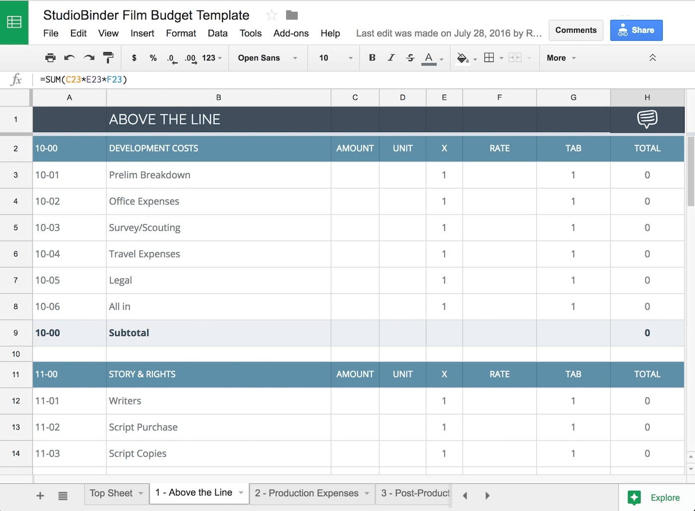 Your Free Film Budget Template For Video Production