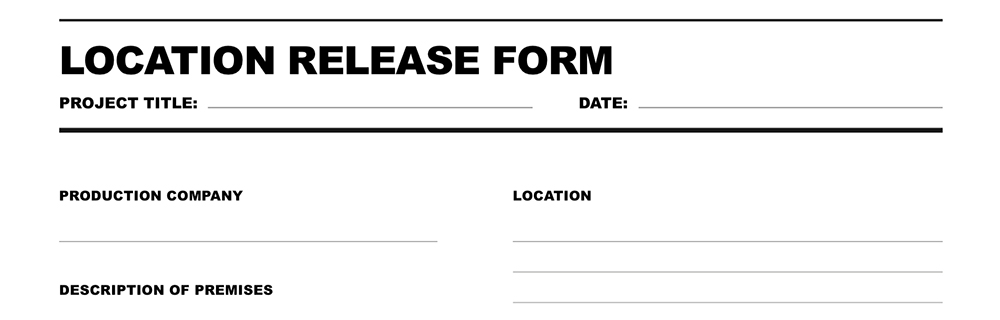 location release form film template release form templates