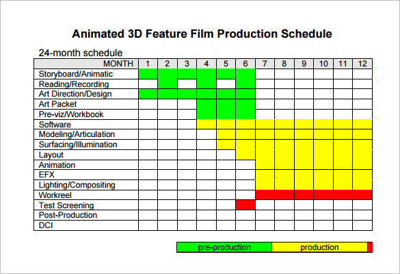 Video Production Schedule Template Charlotte Clergy Coalition - Video timeline template