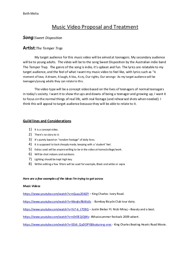 Video Proposal Template Charlotte Clergy Coalition