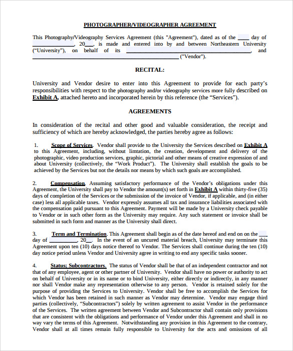 Videography Contract Template Free Charlotte Clergy Coalition