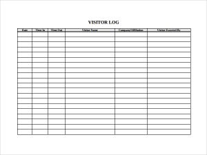 visitor log template excel   April.onthemarch.co
