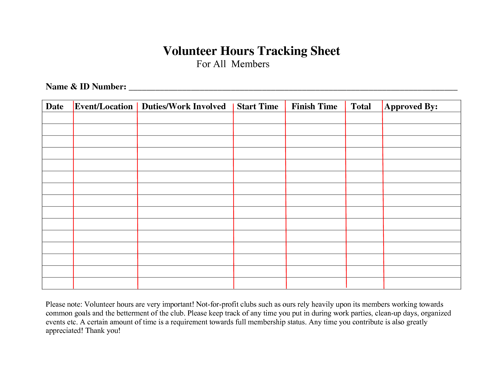 volunteer forms templates   Kleo.beachfix.co