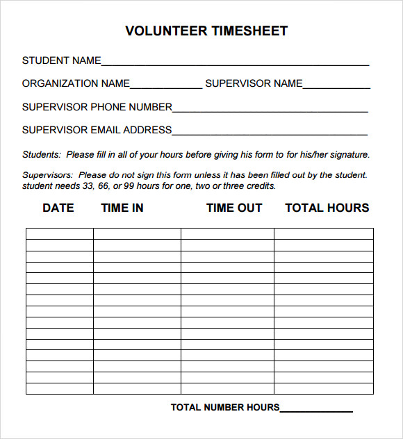 volunteer hour forms template charlotte clergy coalition
