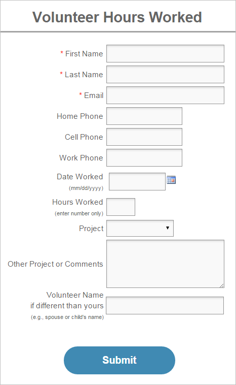 community service hours log sheet template Forms   Fillable