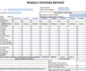 weekly expense report charlotte clergy coalition