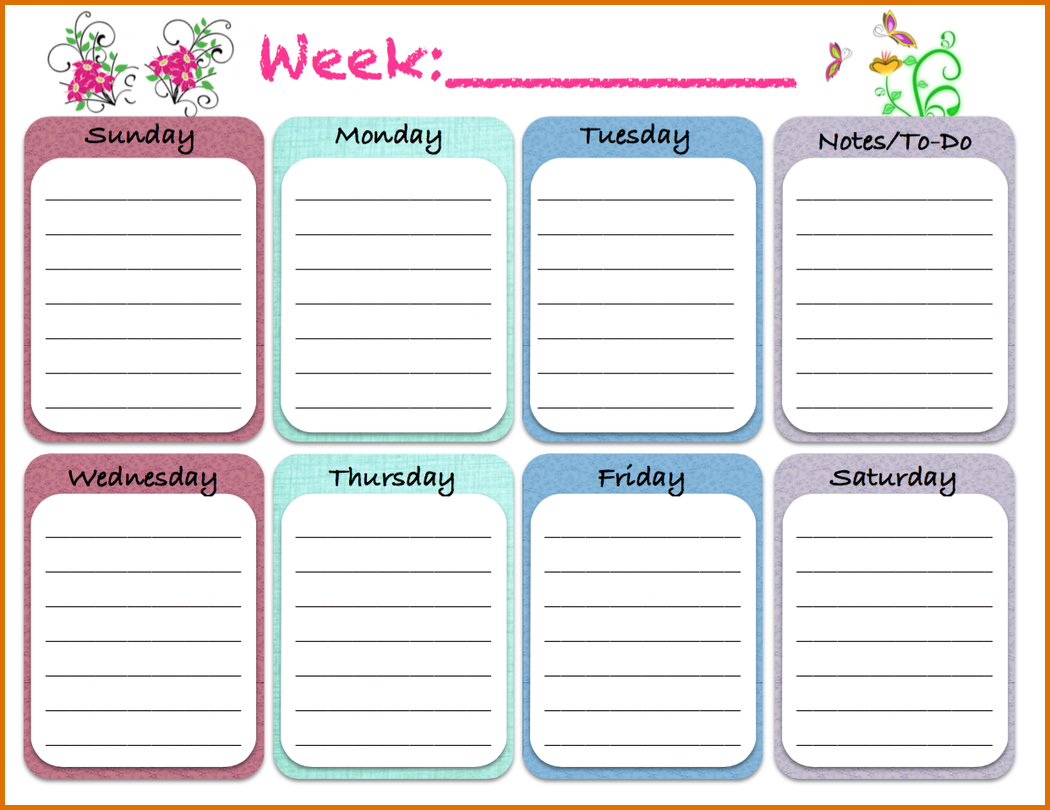 sunday school calendar template - weekly schedule template pdf charlotte clergy coalition