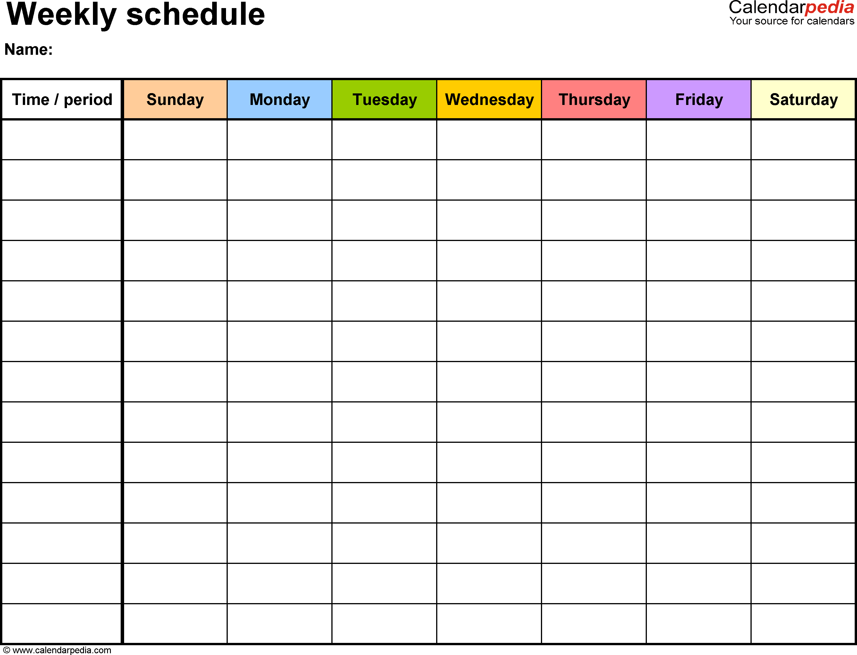 weekly schedule template pdf weekly schedule template 19 free word