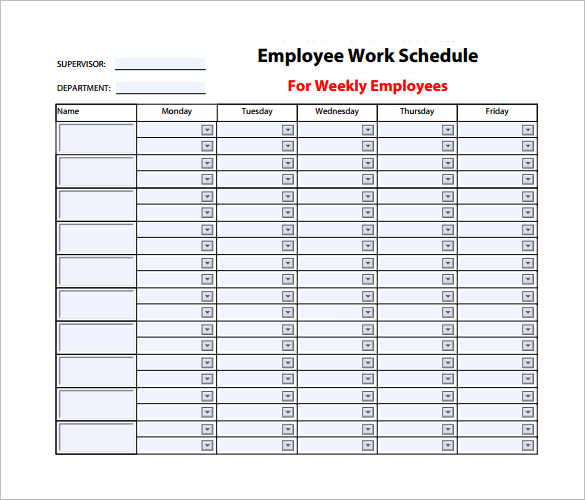 how to read a work schedule