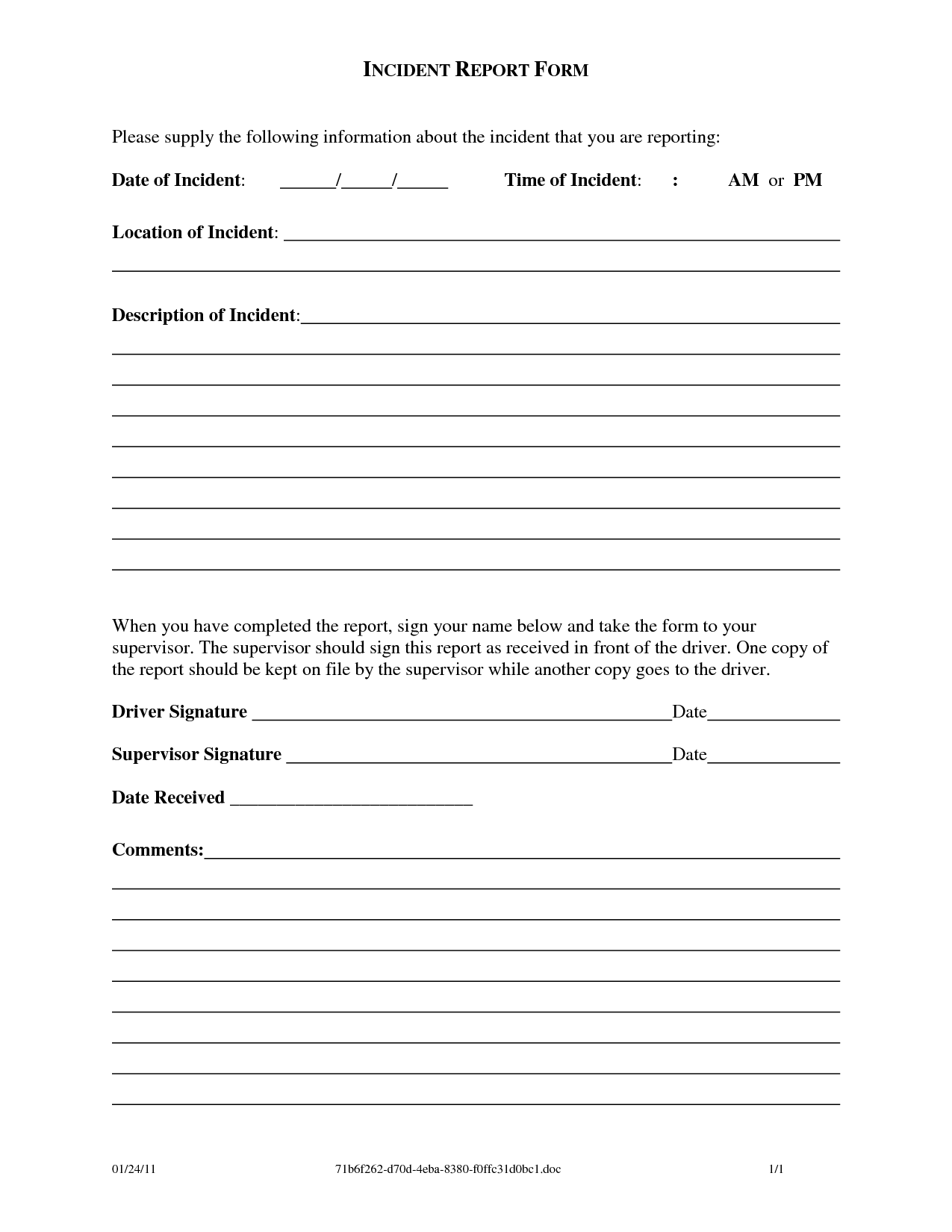 Work Incident Report Template Charlotte Clergy Coalition