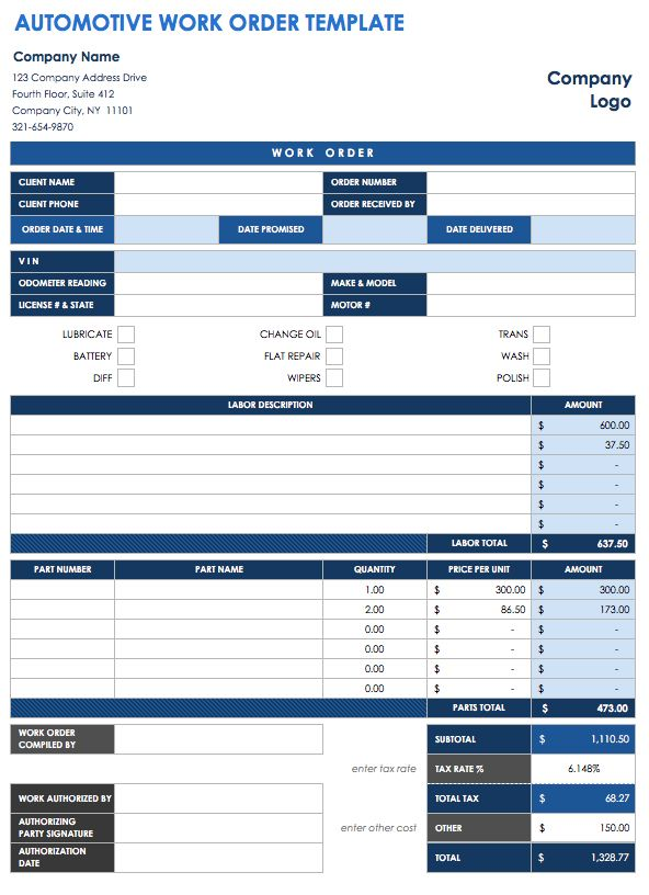 Work Order Template | charlotte clergy coalition