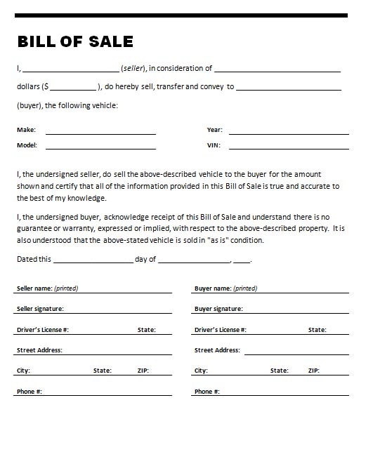 bill of sell template   Kleo.beachfix.co
